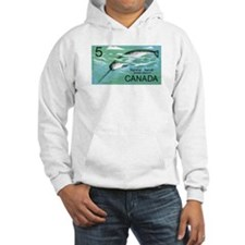1968 Canada Narwhal Postage Stamp Hoodie
