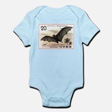 1974 Japan Bat Postage Stamp Infant Bodysuit