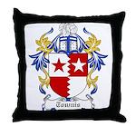 Townis Coat of Arms Throw Pillow