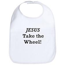 Jesus Take the Wheel Bib