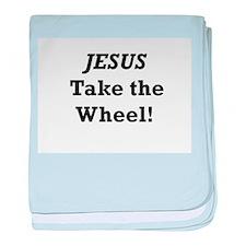 Jesus Take the Wheel baby blanket