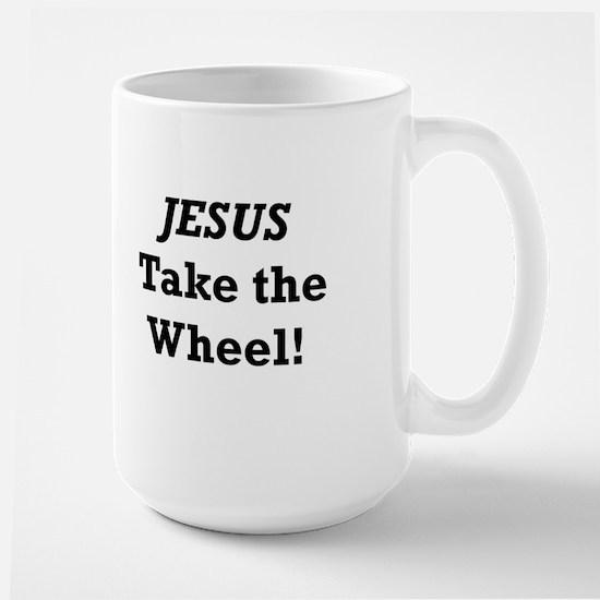 Jesus Take the Wheel Large Mug