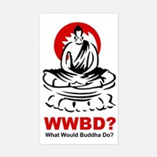 What Would Buddha Do? Rectangle Decal