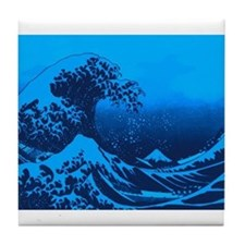 The Great Wave Off (Blue) - Tile Coaster