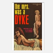 THE MRS WAS A DYKE Postcards (Package of 8)