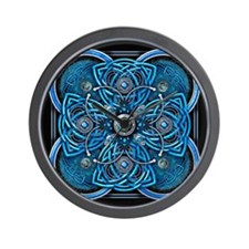 Blue Celtic Tapestry Wall Clock