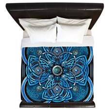 Blue Celtic Tapestry King Duvet