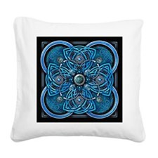 Blue Celtic Tapestry Square Canvas Pillow