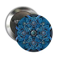 "Blue Celtic Tapestry 2.25"" Button"