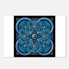 Blue Celtic Tapestry Postcards (Package of 8)
