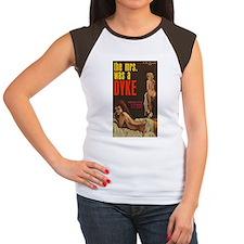 THE MRS WAS A DYKE Women's Cap Sleeve T-Shirt