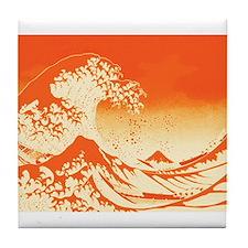 The Great Wave Off (Orange) - Tile Coaster