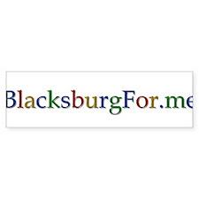 BlacksburgFor.me Bumper Sticker