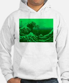 The Great Wave Off (Green) - Jumper Hoody