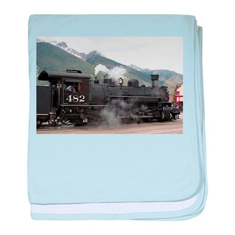 Steam Train: Colorado 2 baby blanket