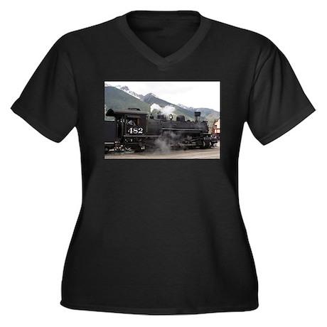Steam Train: Colorado 2 Women's Plus Size V-Neck D