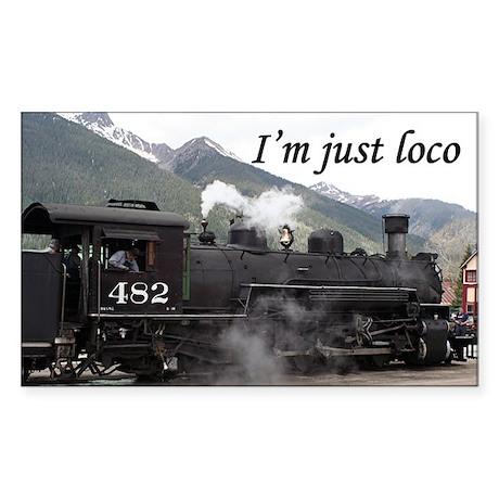 I'm just loco: Colorado steam train 2 Sticker (Rec