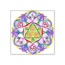 Celtic Triple Goddess Mandala.jpg Square Sticker 3
