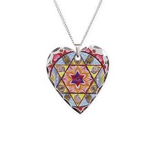 Shiva Shakti Mandala Necklace Heart Charm