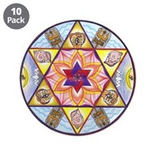 "Shiva Shakti Mandala 3.5"" Button (10 pack)"