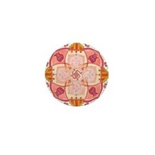 Ganesha Mandala Mini Button