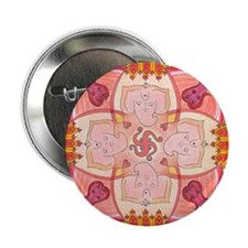 "Ganesha Mandala 2.25"" Button"