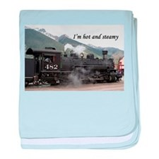 I'm hot and steamy: Colorado train 2 baby blanket