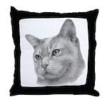 Burmese Cat Throw Pillow