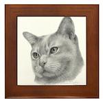 Burmese Cat Framed Tile