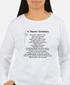 A Theatre Dictionary Long Sleeve T-Shirt