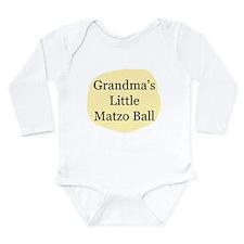 """Grandma's Little Matzo Ball"" Body Suit"