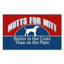 Mutts for Mitt Red Decal