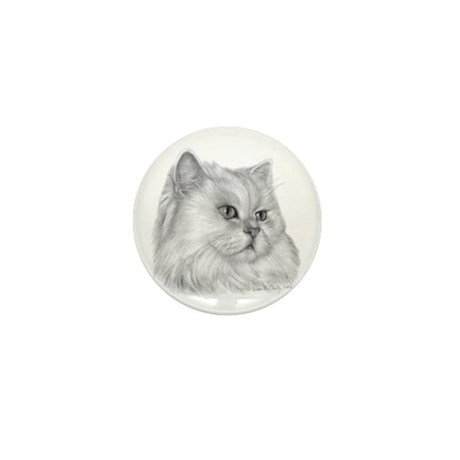 Persian Cat Mini Button (100 pack)