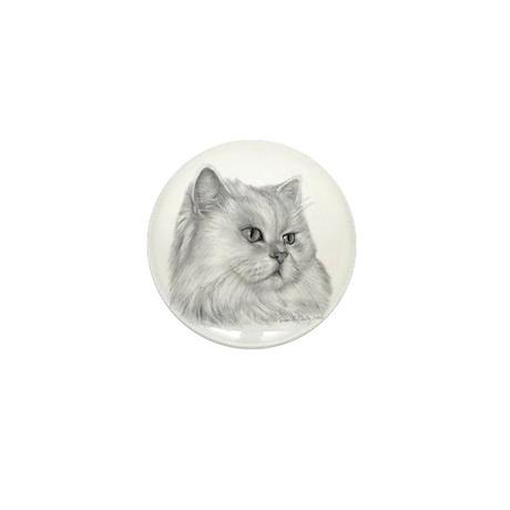 Persian Cat Mini Button (10 pack)