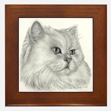 Persian Cat Framed Tile