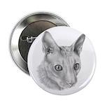 Cornish Rex Cat Button