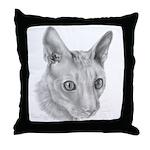 Cornish Rex Cat Throw Pillow
