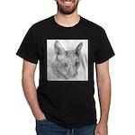 Cornish Rex Cat Black T-Shirt