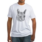 Cornish Rex Cat Fitted T-Shirt
