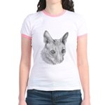 Cornish Rex Cat Jr. Ringer T-Shirt