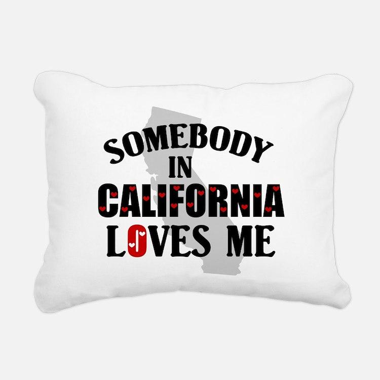 Somebody In California Rectangular Canvas Pillow