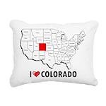 I Love Colorado Rectangular Canvas Pillow