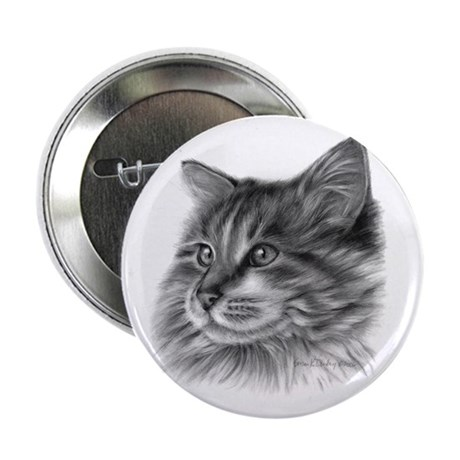"Maine Coon Cat 2.25"" Button (100 pack)"