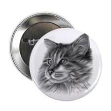 Maine Coon Cat Button
