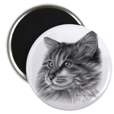 """Maine Coon Cat 2.25"""" Magnet (100 pack)"""