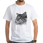 Maine Coon Cat White T-Shirt