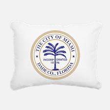 Miami Seal Rectangular Canvas Pillow