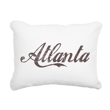 Vintage Atlanta Rectangular Canvas Pillow