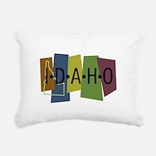 Colorful Idaho Rectangular Canvas Pillow