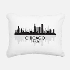 Chicago Skyline Rectangular Canvas Pillow